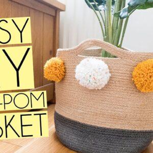 EASY DIY POM-POM PLANT BASKET | POUNDLAND WOOL