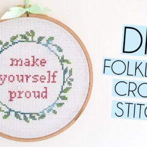 Easy DIY The Folklore Company Cross-Stitch Kit