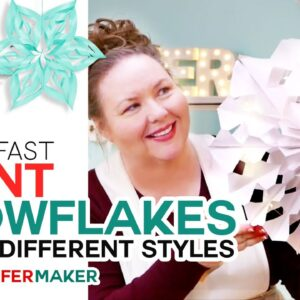 Easy Giant Paper Snowflakes Pattern + Start-to-Finish Tutorial