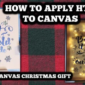 How to apply HTV to canvas - Make a lighted canvas - fairy lights - Cricut