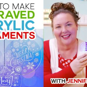 How to Engrave Acrylic Ornaments on a Cricut Maker
