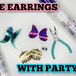 How to make earrings with Cricut - Party Foil - Lightweight earrings.