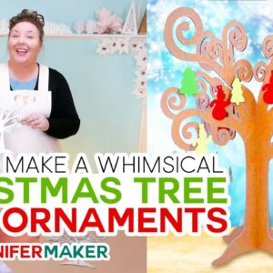 Make a Whimsical Christmas Tree with Ornaments - Kraft Board, Chipboard, or Acrylic!