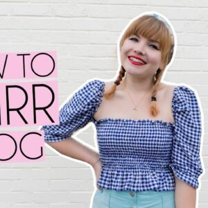LEARNING HOW TO SHIRR FABRIC | VLOG & MY TIPS FOR DROP IN BOBBIN & MORE!