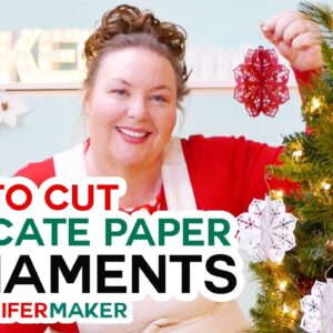 Make 3D Paper Cut Ornaments with Intricate Designs