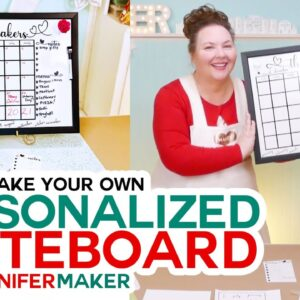 Make Your Own Whiteboard Calendar with Magnets!