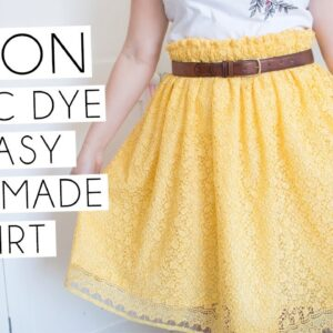 Dying Fabric with Dylon Machine Dye & Simple Beginners Rectangle Skirt | VLOG