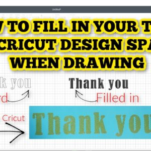 How to fill in writing on Cricut - Stop writing bubble letters - Solid letters in design space