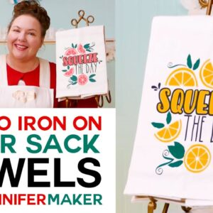 Personalized Flour Sack Towels with Cute Iron-On Vinyl