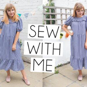 SEW & SING WITH ME VLOG | Friday Sagebrush Pattern Dress Hack