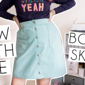 SEW WITH ME | Sewing the Tilly & The Buttons Bobbi Skirt With Lining