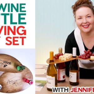 Wine Bottle Serving Tray - Cut on a Cricut!