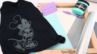 How to Screen Print with Vinyl - Cricut Screen printing - Stenciling - Stencil - Glow in the dark