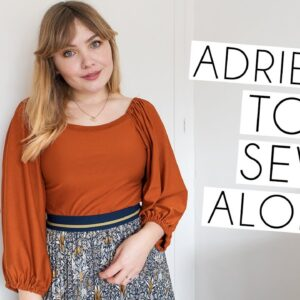 Friday Pattern Company Adrienne Top Pattern Sew Along Vlog