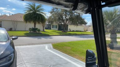 Golf cart ride to Lake Sumter The Villages