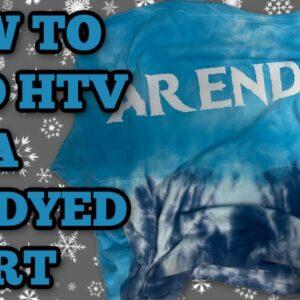 How to apply vinyl to a Tie dyed shirt - Make your own Spirit Jersey - Puff Vinyl - Cricut