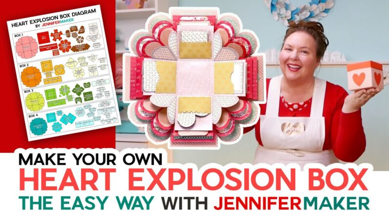Make a Heart Explosion Box the Easy Way - 4 Layers & Lots of Extras!