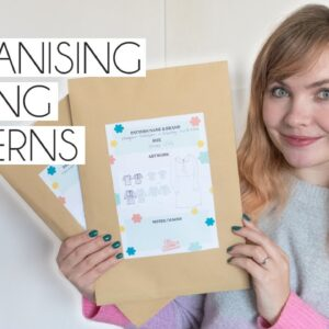 ORGANISING SEWING PATTERNS, HINTS, TIPS & FREE PRINTABLE TEMPLATE