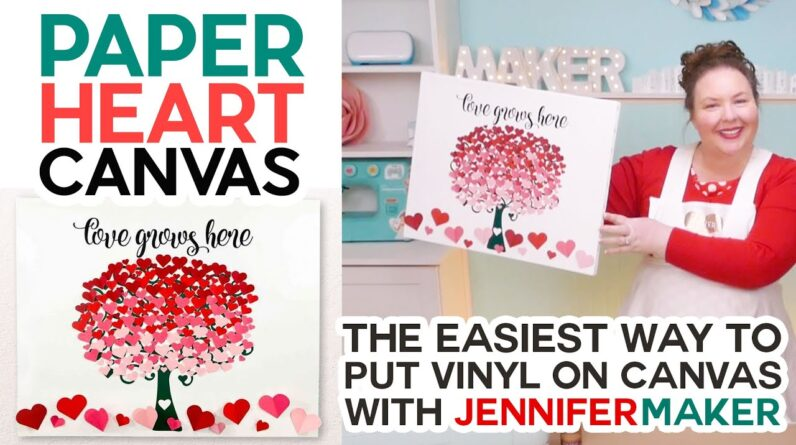 Paper Heart Tree - Easy Canvas Wall Art with your Cricut!