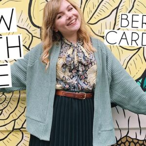 SEW WITH ME | Tilly & The Buttons Bertha Cardigan Make It Simple Book Vlog