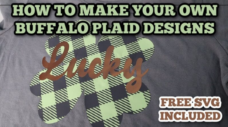 How to make your own buffalo plaid designs - no patterned HTV needed - Slicing designs - beginner
