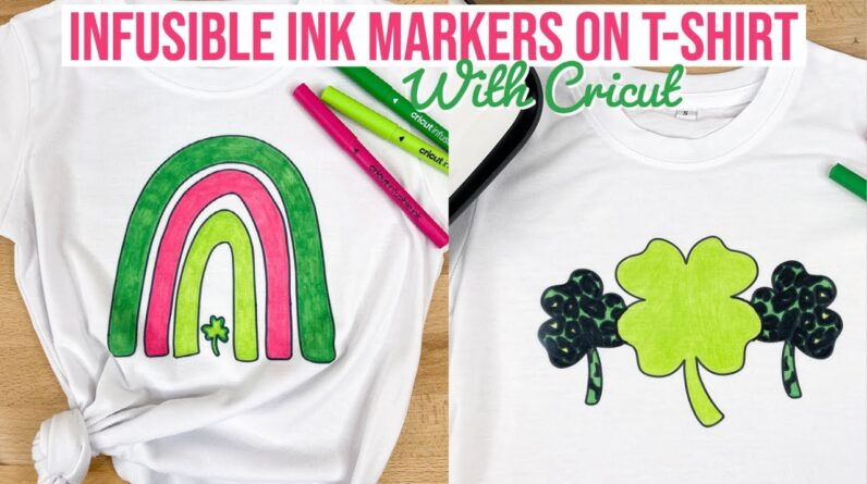 CRICUT INFUSIBLE INK MARKERS ON TSHIRT