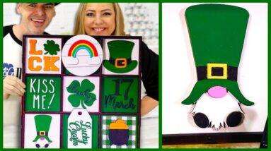 DIY 3D St Patrick's Day Farmhouse Collage with Glowforge