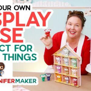 DIY Display Case for Cricut Cuties, Funko Pops - Kraft Board + Cricut!