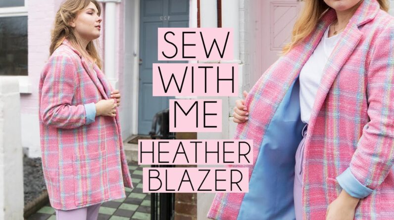 SEW WITH ME | Heather Blazer by Friday Pattern Company Vlog