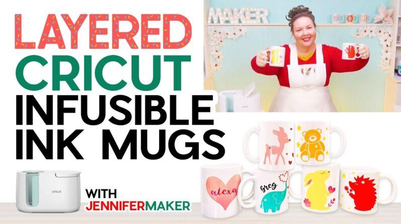 Layered Infusible Ink Mugs: An Easy Cricut Mug Tutorial