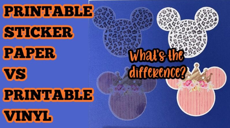 Printable Sticker paper and Printable Vinyl what is the difference which is better print then cut