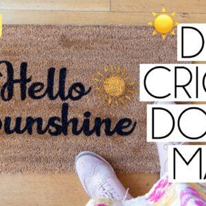 HOW TO MAKE A PERSONALISED DOORMAT WITH CRICUT | CRICUT DOOR MAT DIY