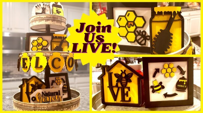 Make It LIVE! Honey Bee Tiered Tray Decor