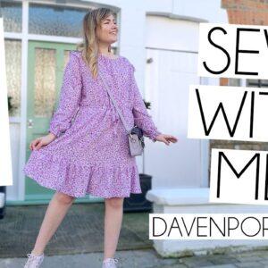 SEW WITH ME | Friday Pattern Company Davenport Dress Vlog