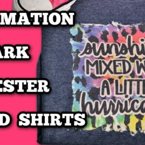 Sublimate on dark shirts - Bleach technique for shirts with sublimation