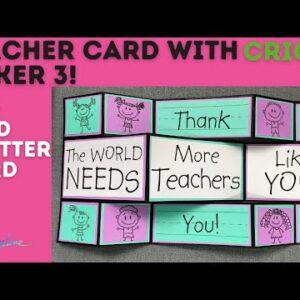 Teacher Shutter Card With Cricut Maker 3
