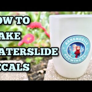 Waterslide Decals for Mugs - How to seal to your cup - Cricut