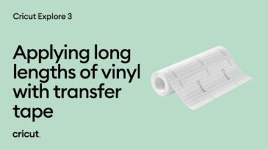 Applying long lengths of vinyl with transfer tape