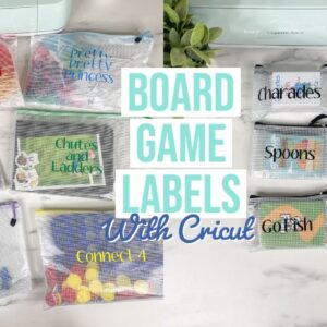 HOW TO MAKE BOARD GAME & CARD GAME LABELS WITH CRICUT | LABELS SIZING TIPS