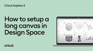 How to setup a long canvas in Design Space
