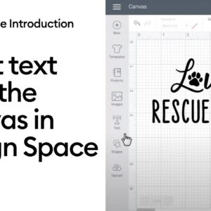 Insert Text onto the Canvas in Design Space
