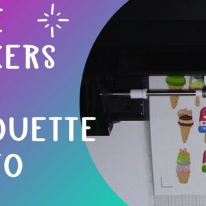 Make sticker with Silhouette Cameo - Print then cut