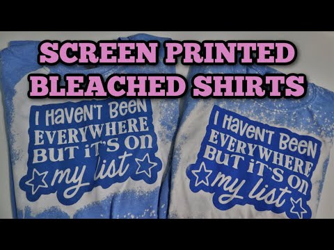 Screen print bleached shirt - Bleaching tee technique
