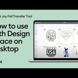 Use the Cricut Joy Foil Transfer Tool on Design Space for Desktop