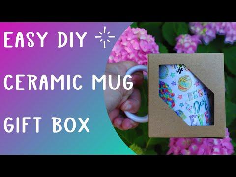 Make a Gift box for ceramic mugs using Cricut - Design space - sublimation mug