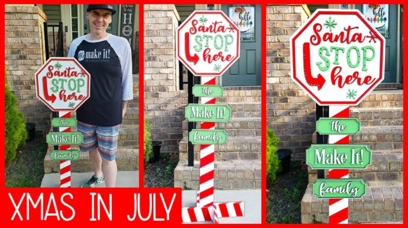 Christmas In July Front Porch Sign Post