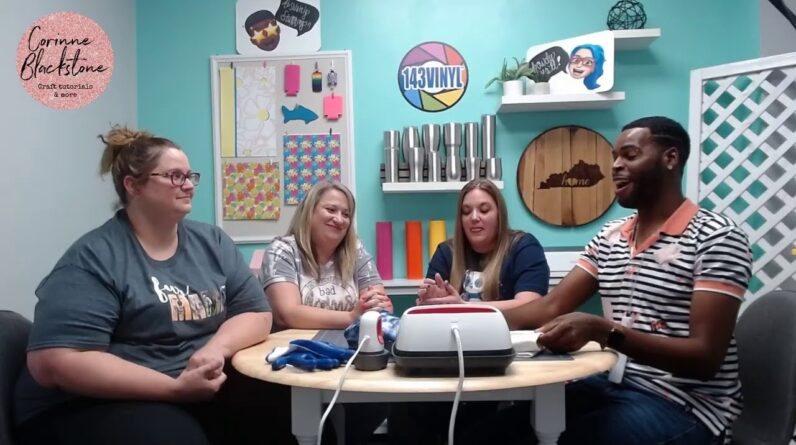 Heather, Kate, Marvin and CORINNE BLACKSTONE Craft Together!