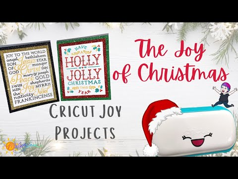 Plaque Cards With Cricut Joy | The Joy of Christmas with Maymay