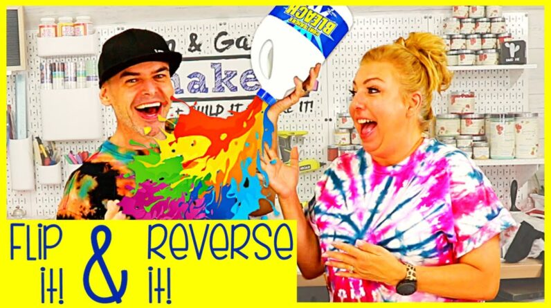 Reverse Tie Dye with Bleach and Color