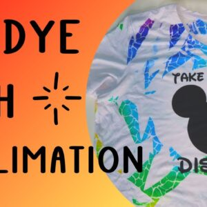 Tie dye a shirt with Sublimation - No mess no fuss - Easy to do!